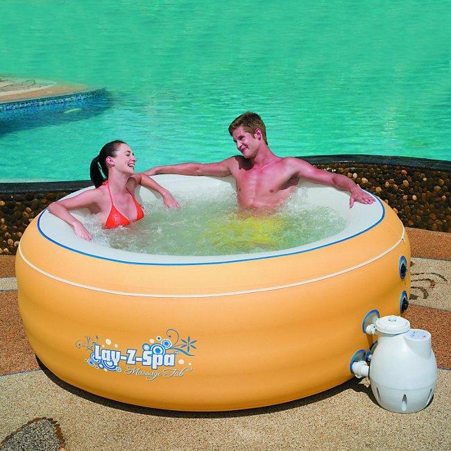 spas solariums spas gonflables spa gonflable sans chauffage jaune piscines spas. Black Bedroom Furniture Sets. Home Design Ideas