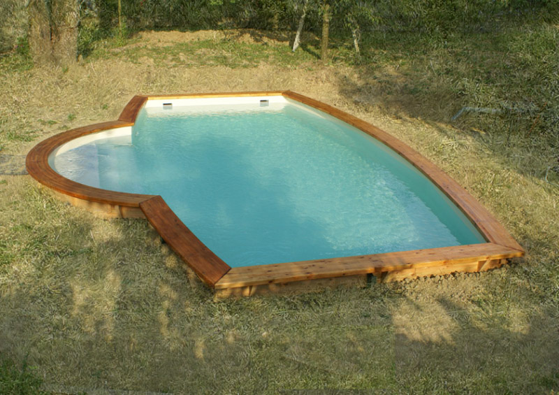 Abri piscine bois lamell coll awesome poteau bois lamell for Piscine brighton
