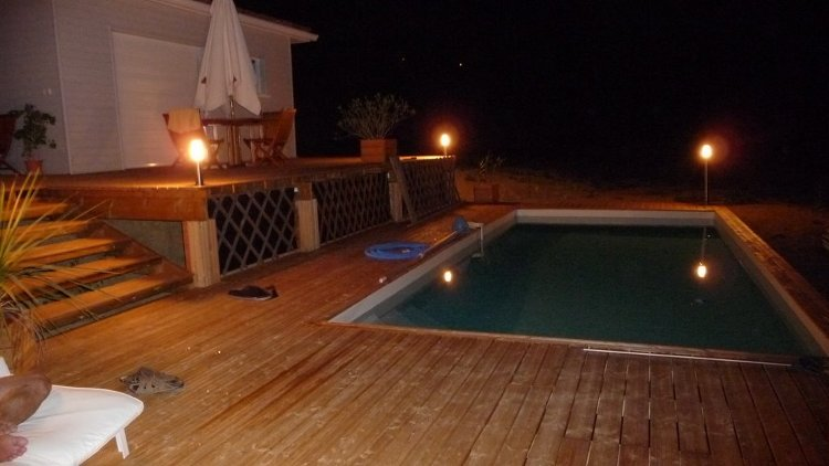 Abris chalets de jardin terrasses bois piscines spas for Lumiere terrasse led