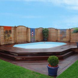 piscines piscine bois tropique piscine bois m x m h m piscines spas. Black Bedroom Furniture Sets. Home Design Ideas