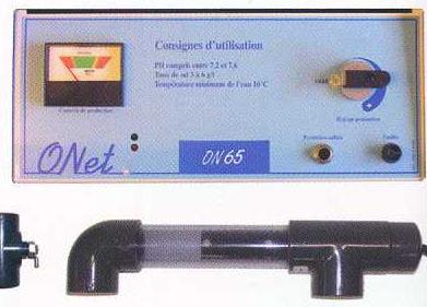 traitement de l 39 eau electrolyseur o 39 net ph on65 ph 60m3 piscines spas. Black Bedroom Furniture Sets. Home Design Ideas