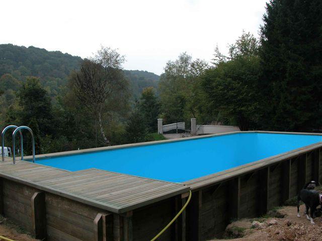 Piscine bois rectangulaire piscine bois integrale h for Liner piscine 4 50 x 1 20