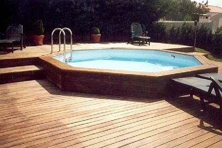 Piscine bois classique piscine bois classique h m for Piscine octogonale bois 3 50